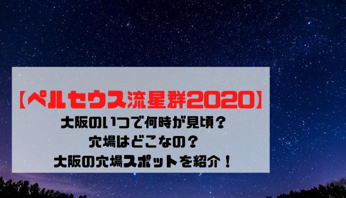 【ペルセウス座流星群2020】大阪のいつで何時が見頃?穴場はどこなの?