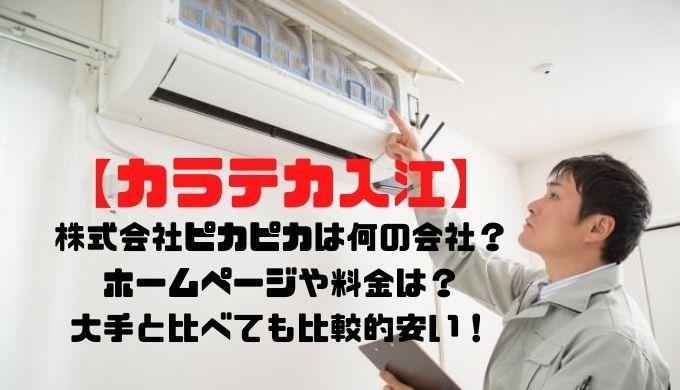 【カラテカ入江】株式会社ピカピカは何の会社?ホームページや料金は?