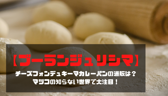 【ブーランジュリシマ】チーズフォンデュキーマカレーパンの通販は?マツコの知らない世界で大注目!